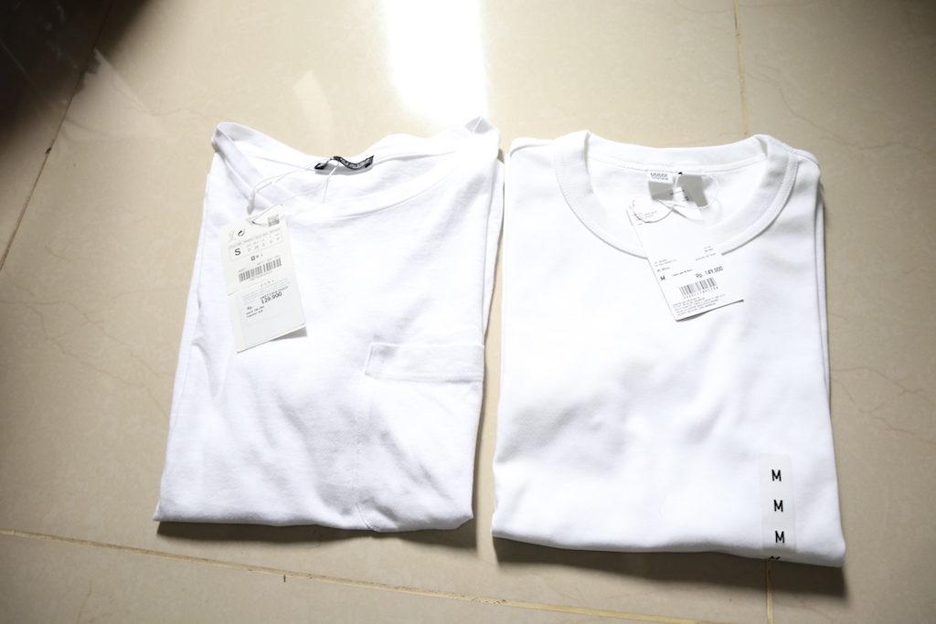 ユニクロ ZARA 白Tシャツ 着こなし方