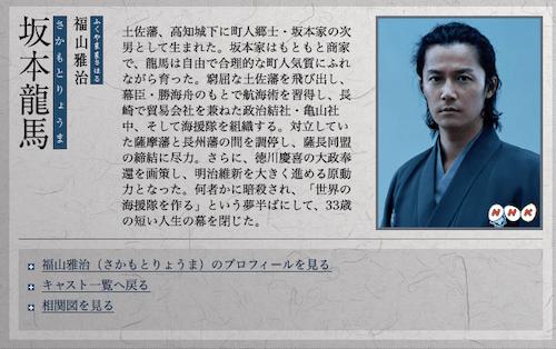 坂本龍馬キャスト画像