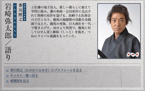 岩崎弥太郎のキャスト画像