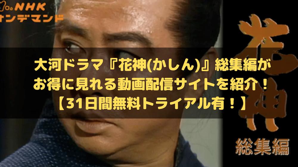 大河ドラマ『花神』総集編がお得に見れる動画配信サイトを紹介!【31日間無料トライアル有!】