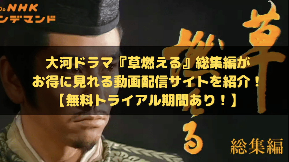 大河ドラマ『草燃える』総集編がお得に見れる動画配信サイトを紹介!