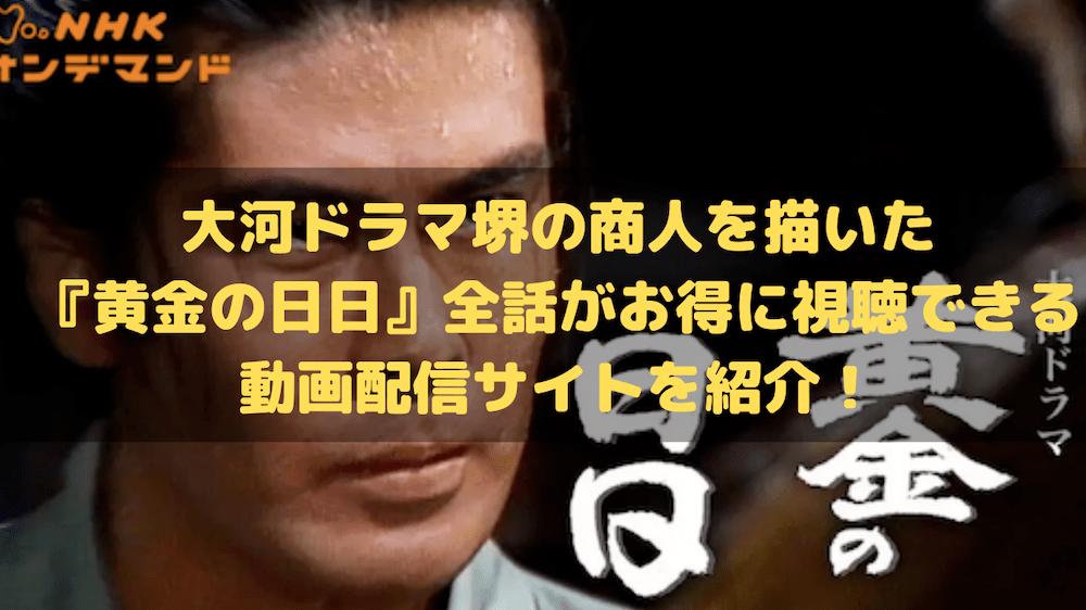 大河ドラマ堺の商人を描いた『黄金の日日』全話がお得に視聴できる動画配信サイトを紹介!