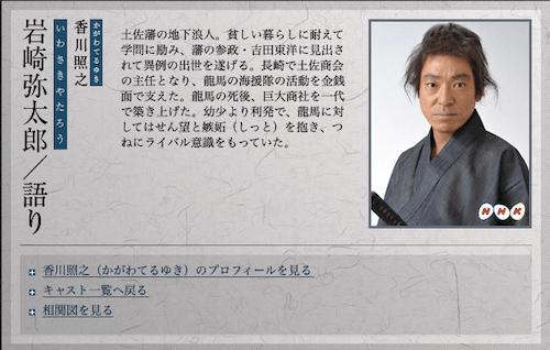 岩崎弥太郎役の画像