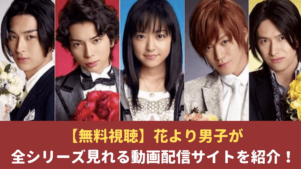 【無料視聴】花より男子が全シリーズ見れる動画配信サイトを紹介!